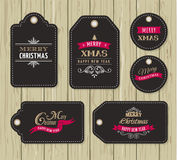 Christmas Sale, Gift Tags and labels Stock Photos