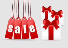 Christmas sale and gifts. Vector Royalty Free Stock Image