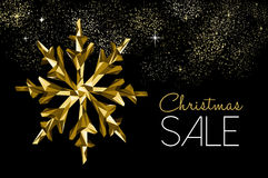 Christmas sale gold decoration for winter discount stock illustration