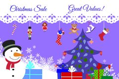 Christmas Sale! Great Values! Stock Photography