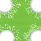 Christmas sale green background Royalty Free Stock Image