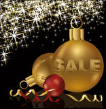 Christmas sale greeting card Royalty Free Stock Image