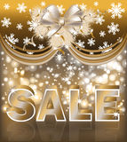 Christmas sale greeting card Royalty Free Stock Images