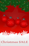 Christmas sale. Christmas holiday sale background with christmas bauble Royalty Free Stock Photography