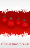 Christmas sale. Christmas holiday sale background with christmas bauble Royalty Free Stock Photo