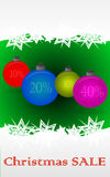 Christmas sale. Christmas holiday sale background with christmas bauble Stock Images
