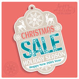 Christmas SALE Holiday Season and Happy New 2015. Year Tag. Vector illustration Royalty Free Stock Photography