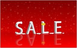 Christmas sale. Christmas holiday sale with snowflakes Stock Image