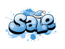 Christmas sale illustration. Stock Photos