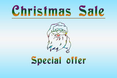 Christmas sale. It is a illustration devoted to Christmas sale Royalty Free Stock Photography