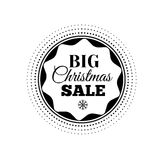 Christmas Sale inscription. Vector illustration. Royalty Free Stock Images