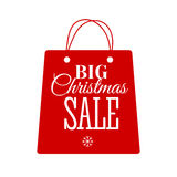 Christmas Sale inscription. Vector illustration. Royalty Free Stock Photos