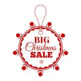 Christmas Sale inscription. Vector illustration. Stock Images