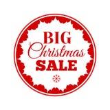 Christmas Sale inscription. Vector illustration. Stock Image