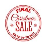 Christmas Sale inscription. Vector illustration. Royalty Free Stock Photo