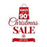 Christmas Sale inscription. Vector illustration. Stock Photography