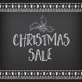 Christmas sale invitation flyer with graphic. Stock Photo