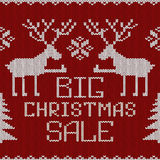 Christmas sale knitted seamless pattern or background Royalty Free Stock Photography