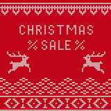 Christmas sale Knitted 1 Stock Photo