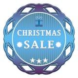 Christmas sale label stock illustration