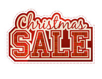 Christmas Sale label. Christmas Sale classic red label Stock Image