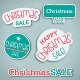 Christmas Sale Label. Set of vector label for Christmas sale Stock Images