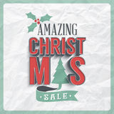 Christmas Sale Label Stock Photo