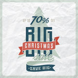 Christmas Sale Label Stock Images