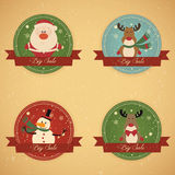 Christmas Sale Labels Stock Photography