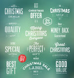 Christmas Sale Labels Royalty Free Stock Photos