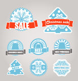 Christmas sale labels set Stock Image