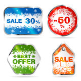 Christmas Sale Labels Royalty Free Stock Photo