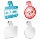 Christmas Sale Labels Royalty Free Stock Images