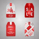 Christmas Sale Labels Stock Photo
