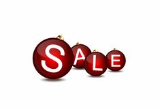 Christmas sale layout Stock Photos