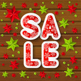 Christmas sale message Royalty Free Stock Photography