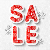 Christmas sale message Royalty Free Stock Image