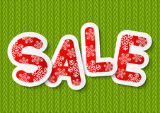 Christmas sale message for Your design Stock Images