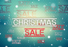 Christmas sale modern and retro vintage mix structure background Stock Photo