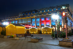 Christmas sale in Moscow. Central Moscow store at night Stock Photo