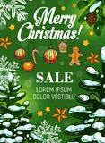 Christmas sale and New Year discount offer banner Royalty Free Stock Photos