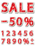 Christmas sale numbers Stock Photography