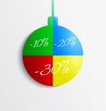 Christmas sale ornament. Stock Photos