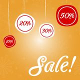 Christmas sale ornament. Stock Images