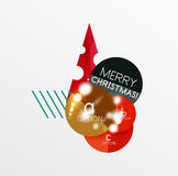 Christmas Sale Paper Stickers Royalty Free Stock Photo