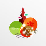 Christmas Sale Paper Stickers. Vector Christmas Sale Paper Stickers Stock Photos