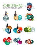 Christmas Sale Paper Stickers Royalty Free Stock Images