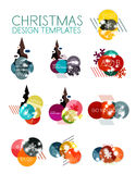 Christmas Sale Paper Stickers Royalty Free Stock Image