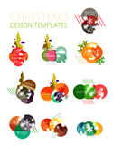Christmas Sale Paper Stickers Stock Photos