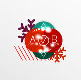 Christmas Sale Paper Stickers Stock Photography